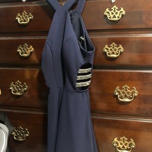 Navy blue Speechless dress ONLY USED ONCE